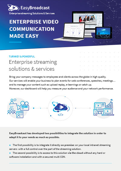 EasyBroadcast Enterprise streaming