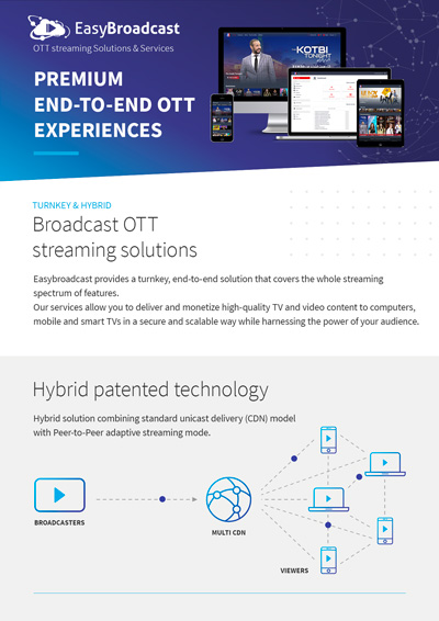EasyBroadcast OTT streaming
